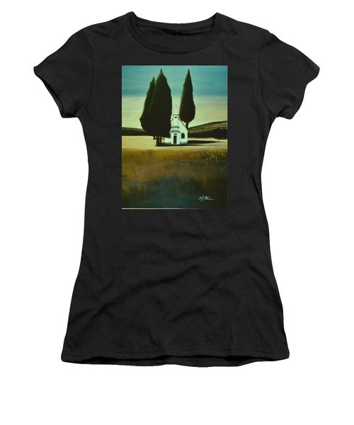 Three Trees And A Church Women's T-Shirt (Athletic Fit)