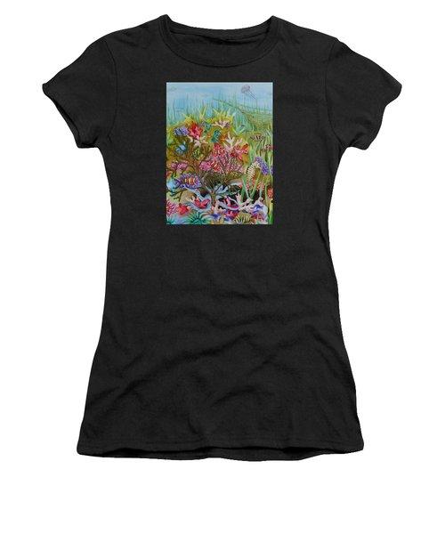 Thriving Ocean -sunken Ship Women's T-Shirt (Athletic Fit)