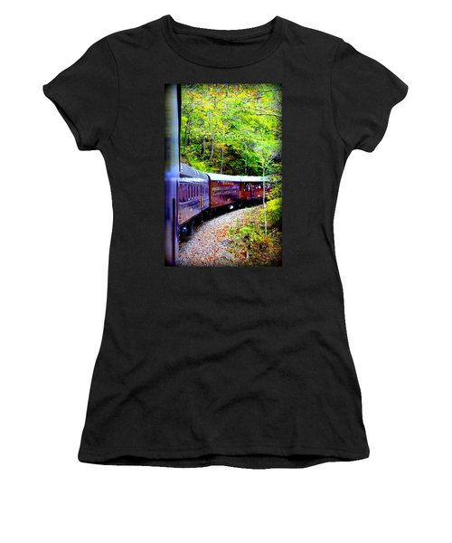Through The Mountains Women's T-Shirt (Athletic Fit)