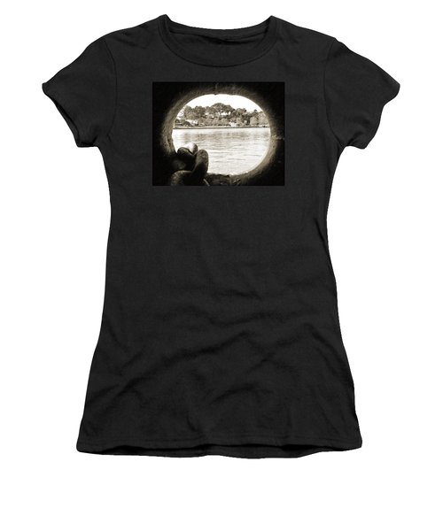 Through The Porthole Women's T-Shirt (Junior Cut) by Holly Blunkall