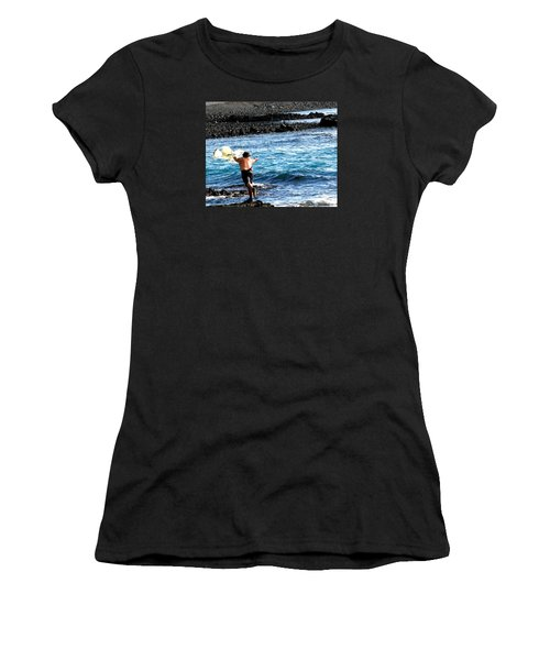 Women's T-Shirt (Junior Cut) featuring the photograph Throw.... by Lehua Pekelo-Stearns