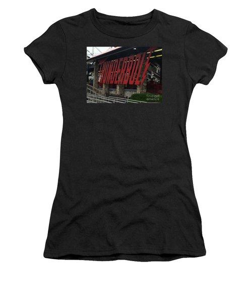 Thunderbolt Roller Coaster Women's T-Shirt (Junior Cut) by Michael Krek