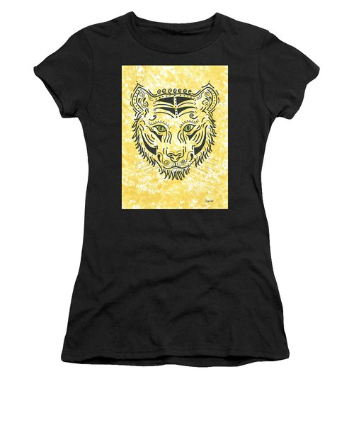 Women's T-Shirt (Junior Cut) featuring the painting Tiger Eye by Susie WEBER