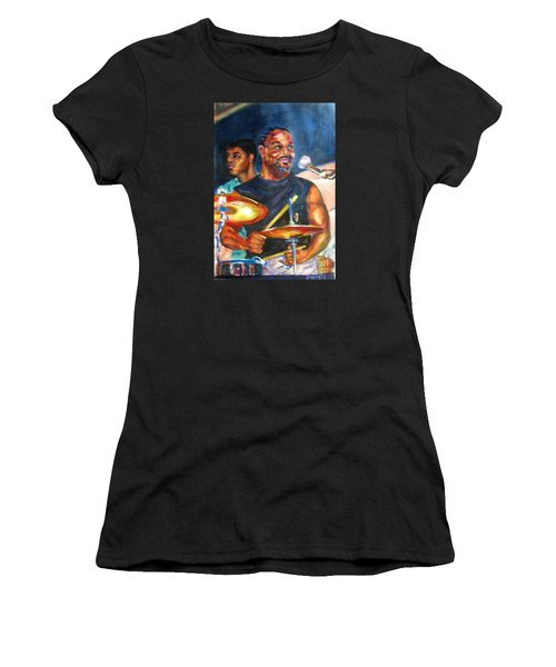 Tiger On Drums Women's T-Shirt (Athletic Fit)