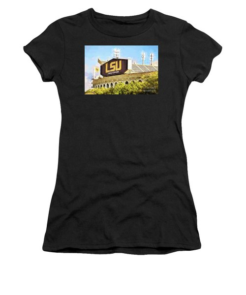 Tiger Stadium - Bw Women's T-Shirt (Athletic Fit)