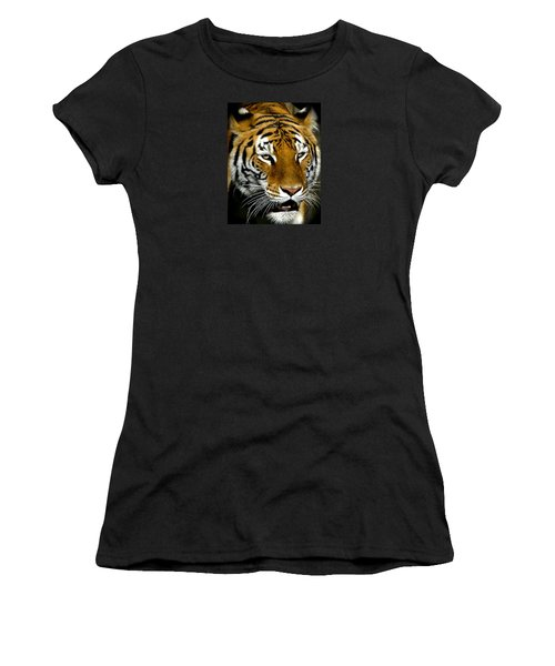 Tiger Tiger Burning Bright Women's T-Shirt (Junior Cut) by Venetia Featherstone-Witty