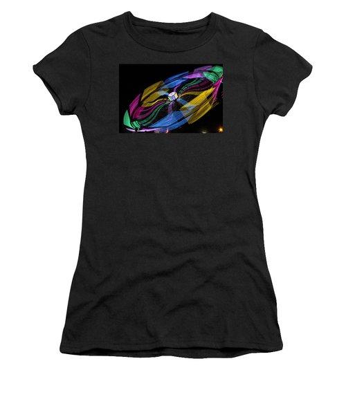 Women's T-Shirt (Junior Cut) featuring the photograph Tilt A Whirl by Steven Bateson