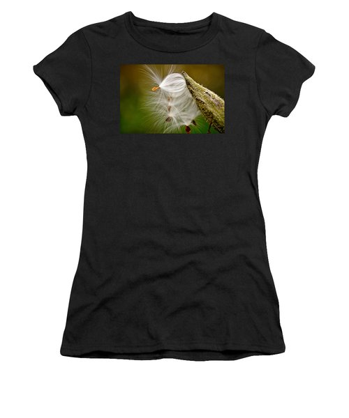 Women's T-Shirt featuring the photograph Time For Me To Fly by Andrea Platt