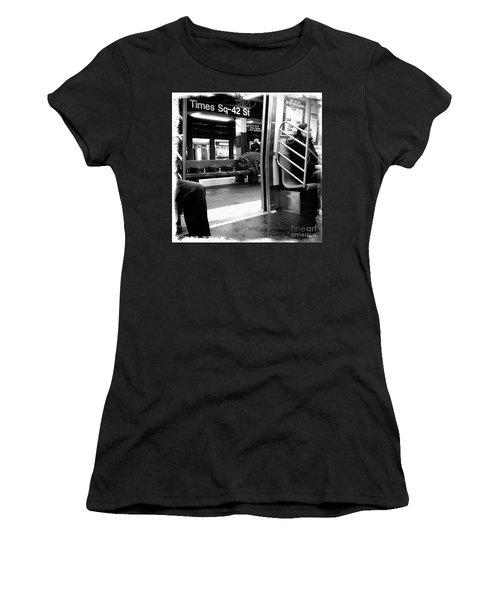Times Square - 42nd St Women's T-Shirt (Junior Cut) by James Aiken