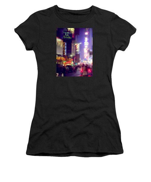 Times Square At Night - Columns Of Light Women's T-Shirt (Athletic Fit)