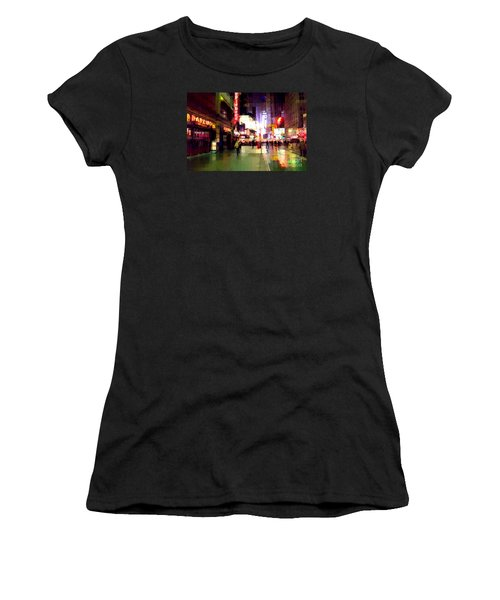 Times Square New York - Nanking Restaurant Women's T-Shirt (Junior Cut) by Miriam Danar