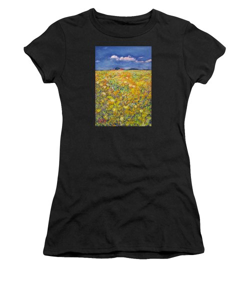 tiptoe Through Summer Meadow Women's T-Shirt (Athletic Fit)