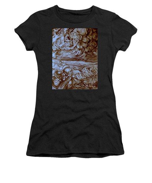 Titan In Desert Women's T-Shirt (Athletic Fit)