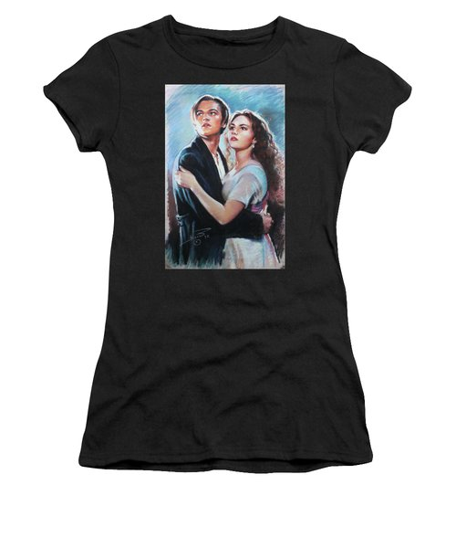 Titanic Jack And Rose Women's T-Shirt (Athletic Fit)