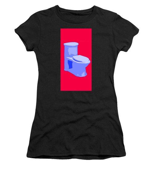 Toilette In Blue Women's T-Shirt