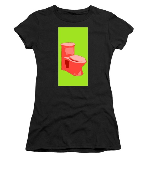 Toilette In Red Women's T-Shirt (Athletic Fit)