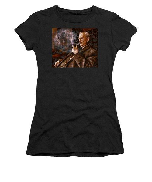 Tolkien Daydreams Women's T-Shirt (Junior Cut) by Dave Luebbert