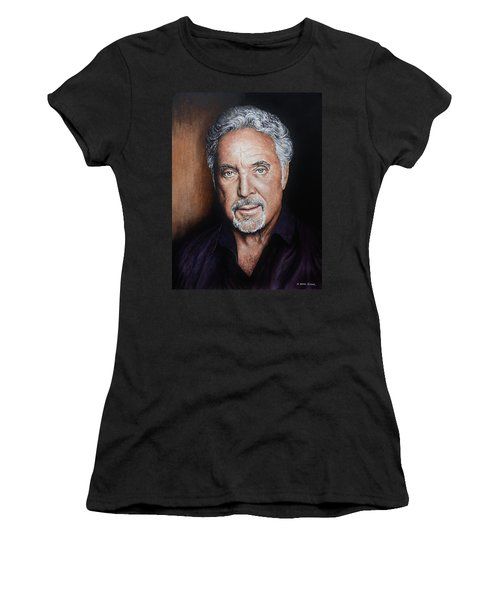 Tom Jones The Voice Women's T-Shirt (Athletic Fit)