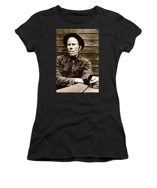 Tom Waits Artwork 2 Women's T-Shirt (Athletic Fit)
