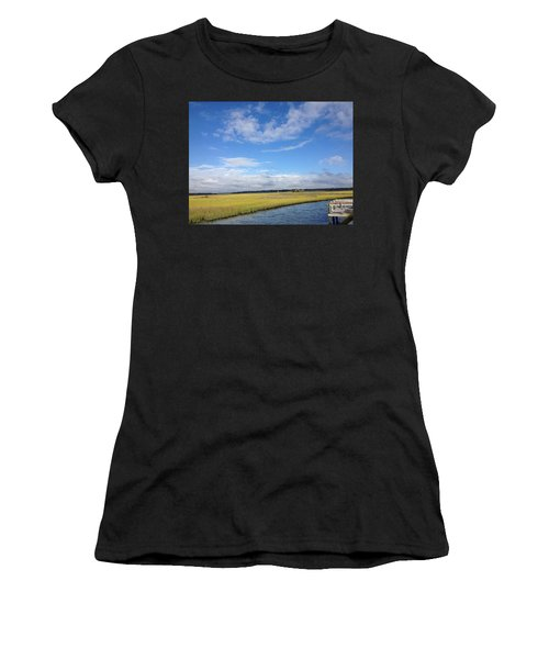 Topsail Island Icw Women's T-Shirt (Athletic Fit)