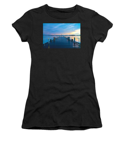 Toronto Pier During A Winter Sunset Women's T-Shirt (Athletic Fit)