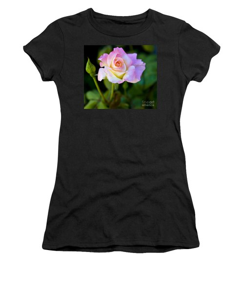 Women's T-Shirt (Junior Cut) featuring the photograph Rose-touch Me Softly by David Millenheft
