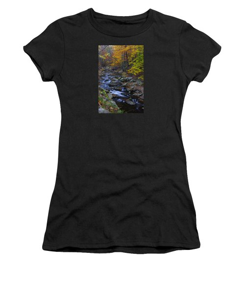 Tracking Color - Big Hunting Creek Catoctin Mountain Park Maryland Autumn Afternoon Women's T-Shirt
