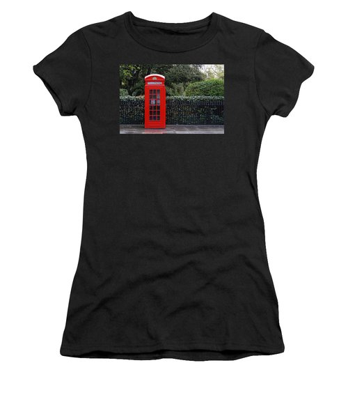 Traditional Red Telephone Box In London Women's T-Shirt