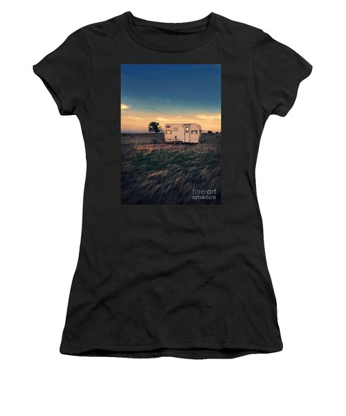 Trailer At Dusk Women's T-Shirt (Athletic Fit)