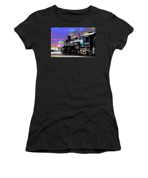 Train 489 Women's T-Shirt (Junior Cut) by Steven Bateson
