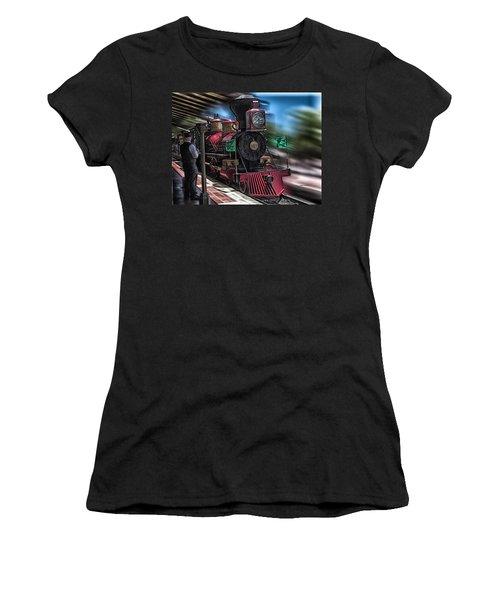 Train Ride Magic Kingdom Women's T-Shirt (Junior Cut) by Thomas Woolworth