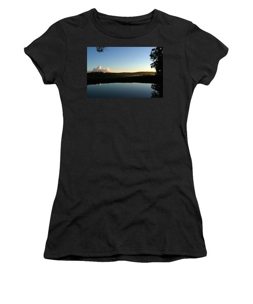 Women's T-Shirt (Junior Cut) featuring the photograph Tranquility by Evelyn Tambour