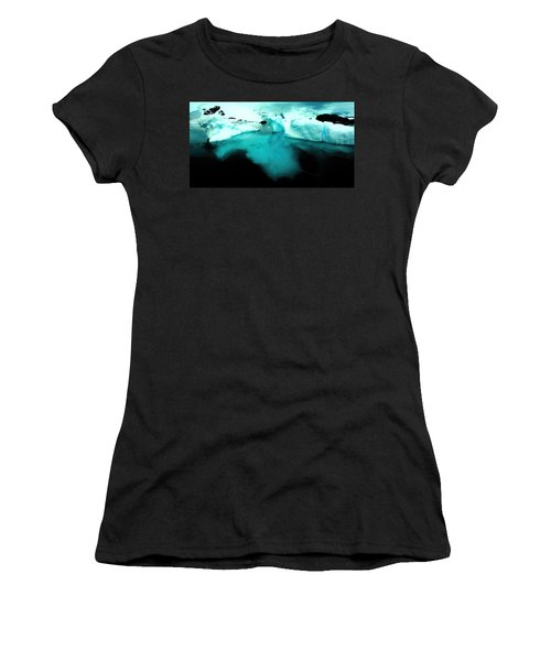 Women's T-Shirt (Junior Cut) featuring the photograph Transparent Iceberg by Amanda Stadther