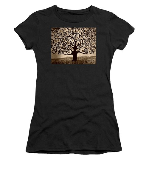 Tree Of Life In Sepia Women's T-Shirt