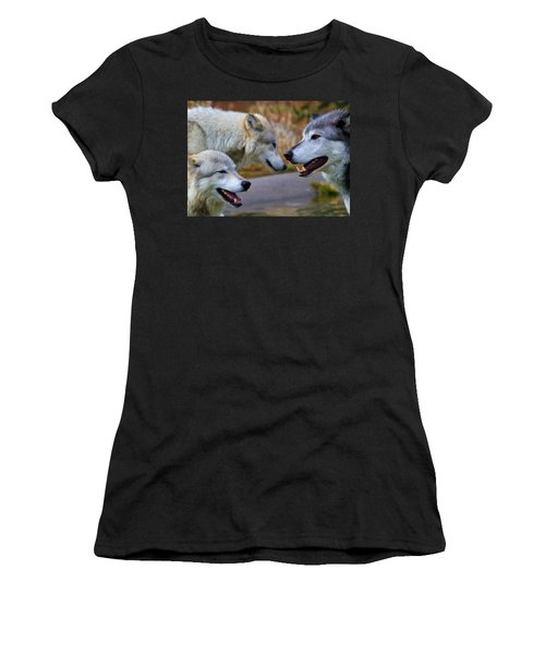 Triple Take Painted Women's T-Shirt (Athletic Fit)