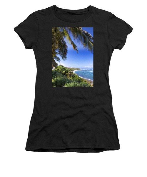 Women's T-Shirt (Junior Cut) featuring the photograph Tropical Holiday by Daniel Sheldon
