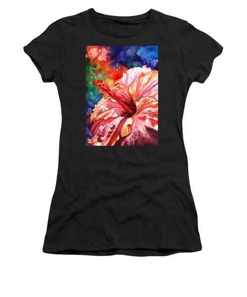Tropical Pink Hibiscus Women's T-Shirt