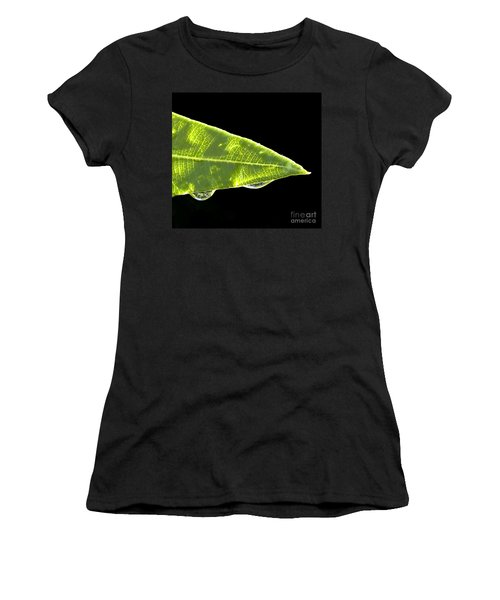 Women's T-Shirt (Junior Cut) featuring the photograph Tropical Reflections by Anne Rodkin