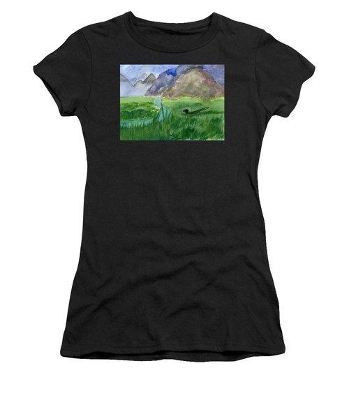 Trout Bum Women's T-Shirt (Athletic Fit)