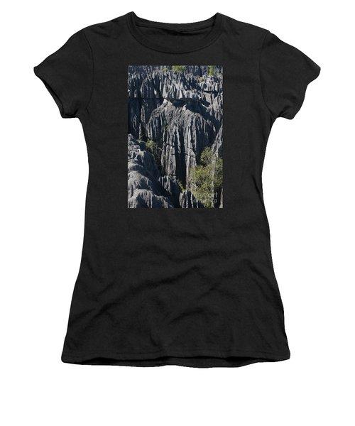 Tsingy De Bemaraha Women's T-Shirt (Junior Cut) by Rudi Prott