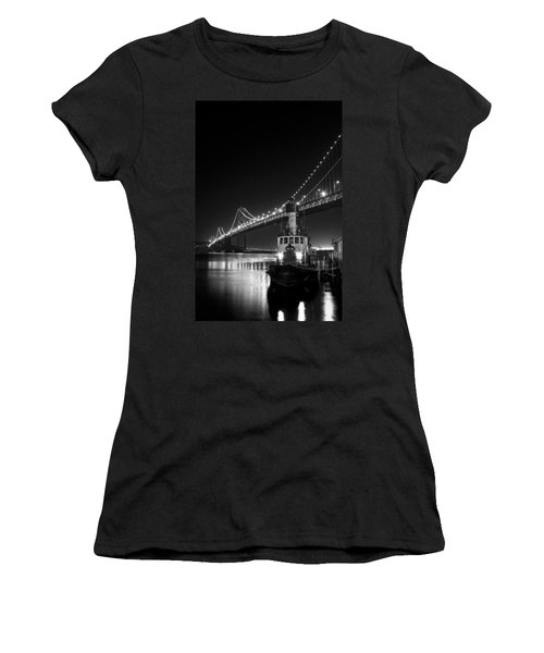 Tugboat Under The Bay Bridge Women's T-Shirt