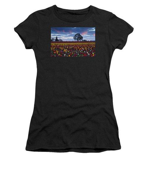 Tulip Field's Last Colors Women's T-Shirt