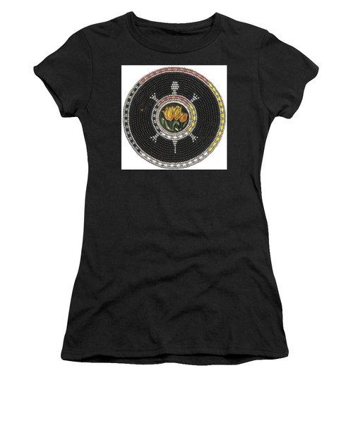 Tulip Turtle Women's T-Shirt (Athletic Fit)