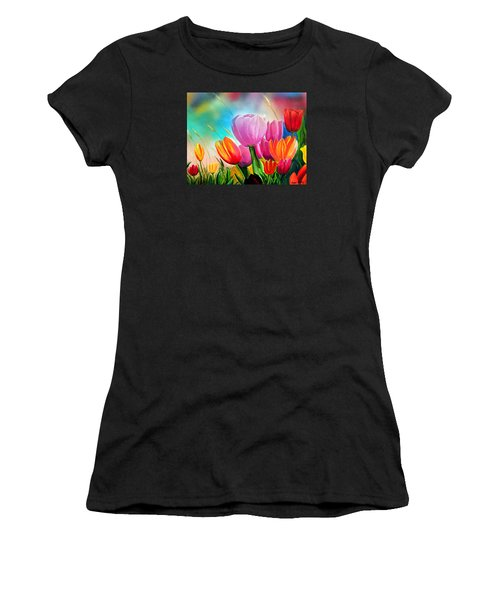 Tulipa Festivity Women's T-Shirt (Athletic Fit)