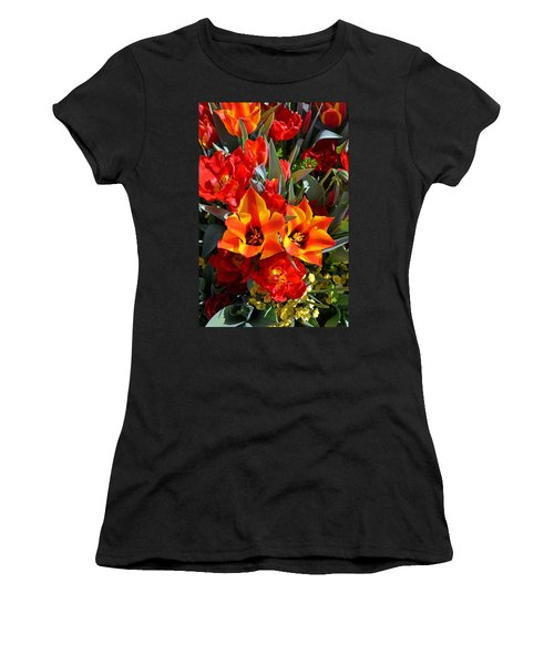 Tulips At The Pier Women's T-Shirt (Athletic Fit)