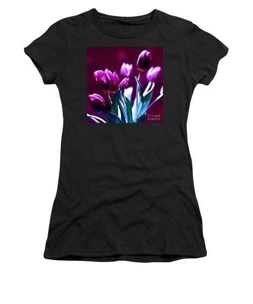 Purple Tulips Women's T-Shirt