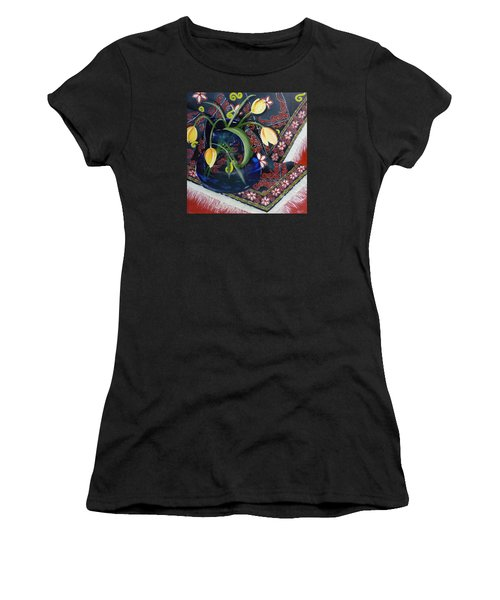 Women's T-Shirt (Junior Cut) featuring the painting Tulips by Helen Syron