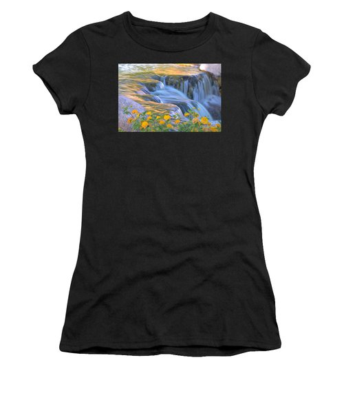 Tumbling Waters Women's T-Shirt (Athletic Fit)