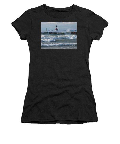 Tumultuous Lake Women's T-Shirt (Athletic Fit)