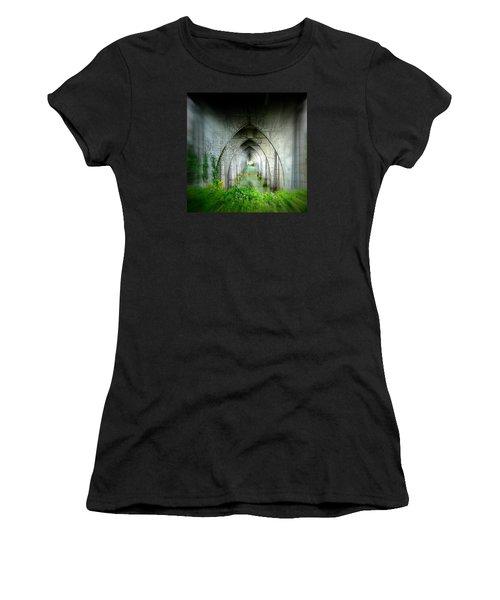 Tunnel Effect Women's T-Shirt (Junior Cut) by Nick Kloepping
